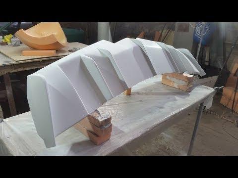 видео: 2ч.Cadillac STC Coupe диффузор/making fiberglass diffuser