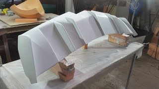 2ч.Cadillac STC Coupe диффузор/making fiberglass diffuser
