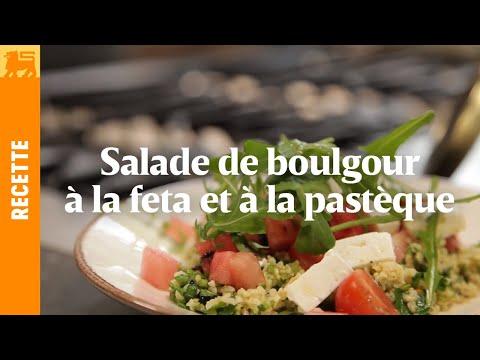 Salade de boulgour à la feta et à la pastèque