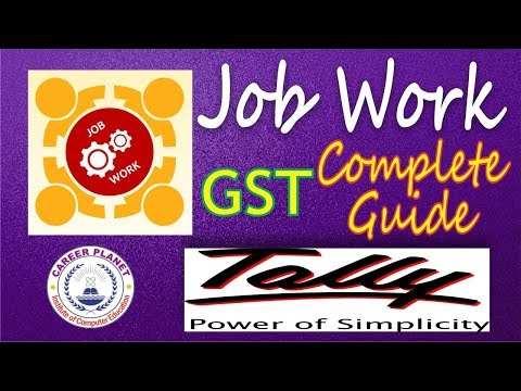 Job Work  with GST in Tally ERP9 Part-22 | Goods Manufacturing Job work with Tally for GST