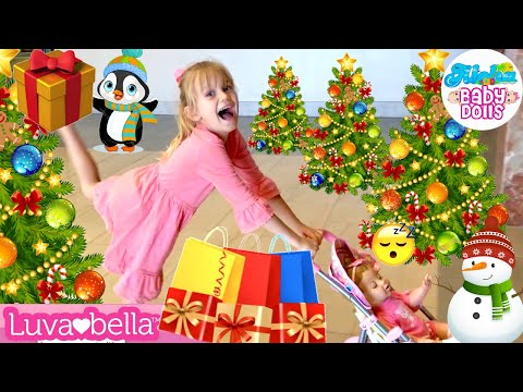 ⭐️Super Fun! 🎄Christmas Shopping With 💖Luvabella Doll At The Mall & Target Store! 🛍☃️🎁