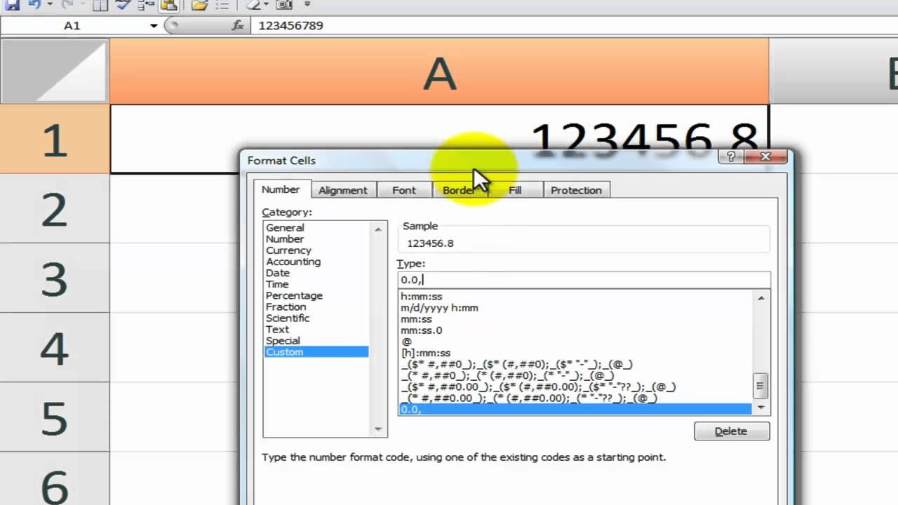 How to Format and Display Large Numbers in Excel