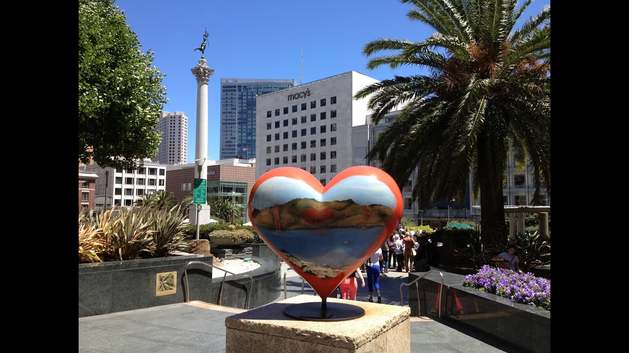 Heart Sculpture Union Square San Francisco