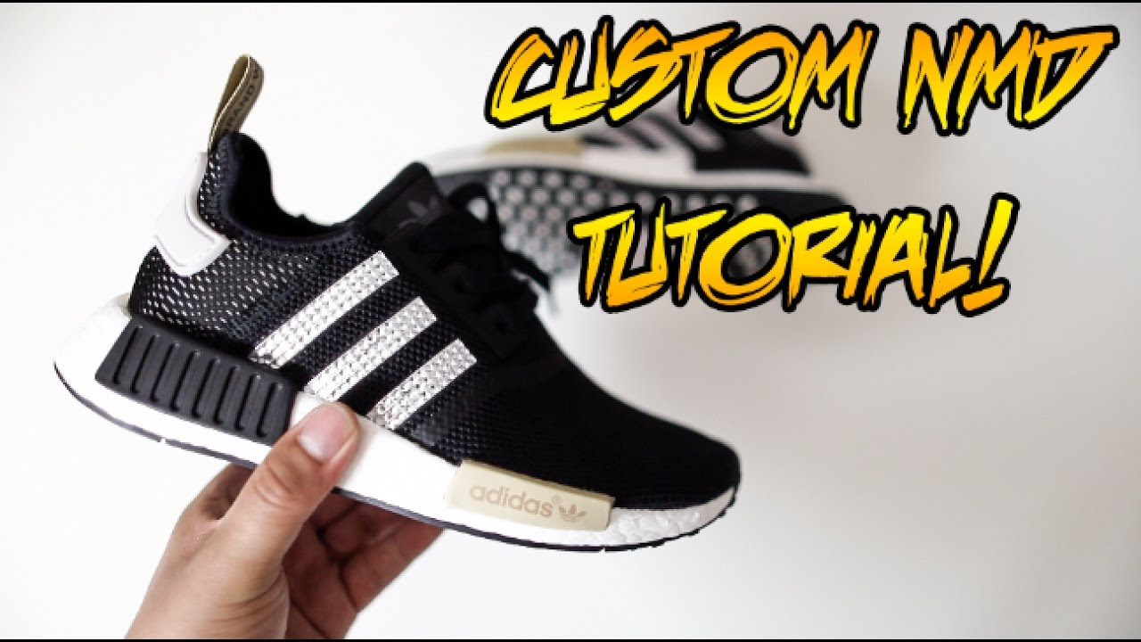 4746e0081 DIY CUSTOM BEDAZZLE NMD TUTORIAL!!! (SUPER EASY) - YouTube