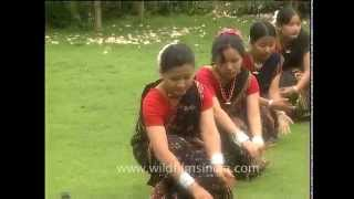 A folk dance of Assam from North East India
