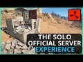 The Rust Official Server SOLO Experience - Rust Solo Survival Gameplay