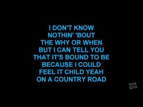 Country Road in the style of James Taylor karaoke video