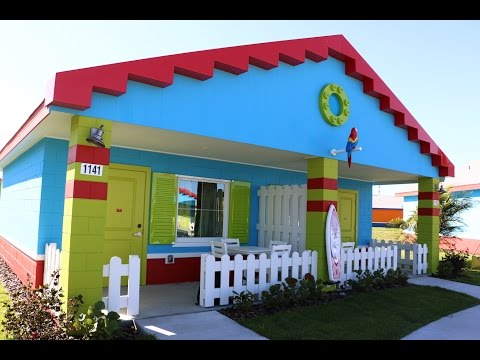 New LEGOLAND Beach Retreat bungalow room tour - LEGOLAND Florida hotel