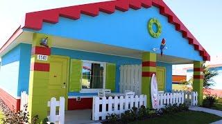 New LEGOLAND Beach Retreat bungalow room tour - LEGOLAND Florida hotel