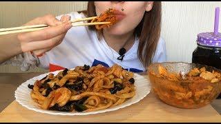 ASMR | Лапша вок с морепродуктами | Noodle wok with seafood ASMR (Eating Sounds) NO Talking MUKBANG