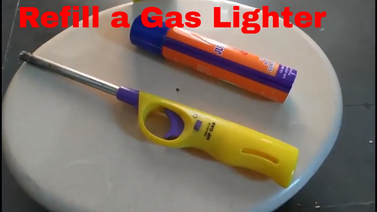 How to Refill a Gas Lighter - YouTube for Torch Lighter Refill  588gtk