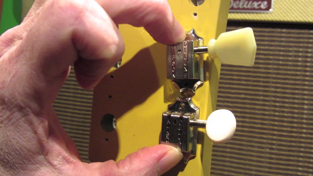 guitar tone gibson les paul melody maker tuning peg change youtube