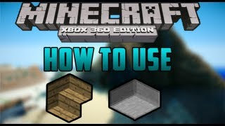 How To Use Upside Down Stairs/Slabs - Minecraft (Xbox 360)