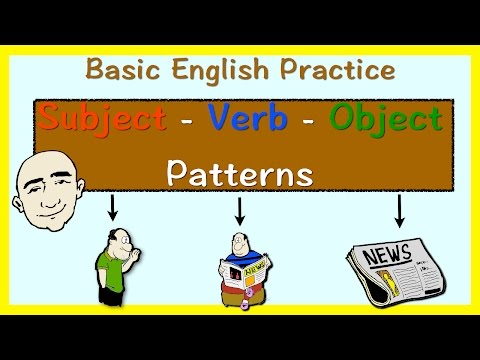 Subject, Verb, Object