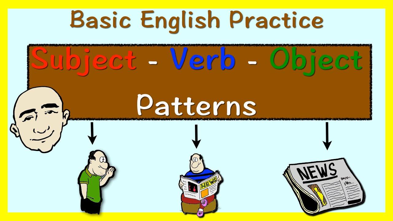 Subject + Verb + Object - SVO pattern (English grammar practice)   Learn  English - Mark Kulek ESL - YouTube [ 720 x 1280 Pixel ]