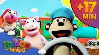 Mix Descubriendo los transportes | Mono Bubba y sus amigos