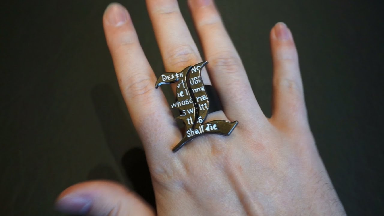 $2 DIY Death Note \'L\' Ring! - YouTube