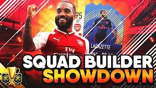 One of TheGamerCan's most viewed videos: FIFA 17 SQUAD BUILDER SHOWDOWN vs AJ3 W/ ARSENAL LACAZETTE! SBSD CUP ULTIMATE TEAM