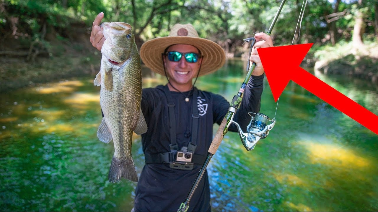 FISHING INSANELY CLEAR CREEK! (BASS CHALLENGE)