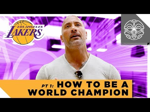 Manny On The Streets - Dwayne Johnson talks to the Lakers? *WATCH