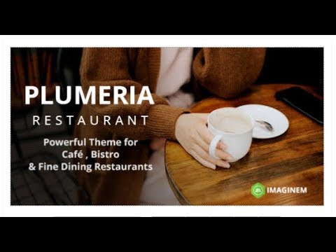Plumeria Restaurant and Cafe Theme for WordPress | Themeforest Templates