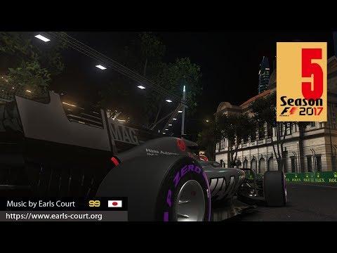 【F1 2017】T300 RSとドライバーカメラでキャリアモード!【生放送】 /  Season 5 Round 14 Singapore Grand Prix