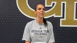 Fighting Peaches: Georgia Tech volleyball Michelle Collier interview 9.4.18 #sportsinquirer