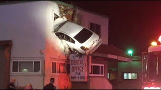 'Dent-istry': Car somehow smashes into 2nd-floor dental office
