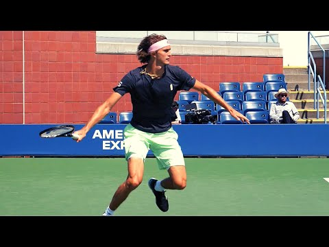 Alexander Zverev In Slow Motion - ATP Forehand - Backhand - Serve Slow Motion