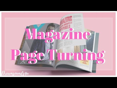 ASMR: Magazine Page Turning Sounds For Sleeping And Relaxation