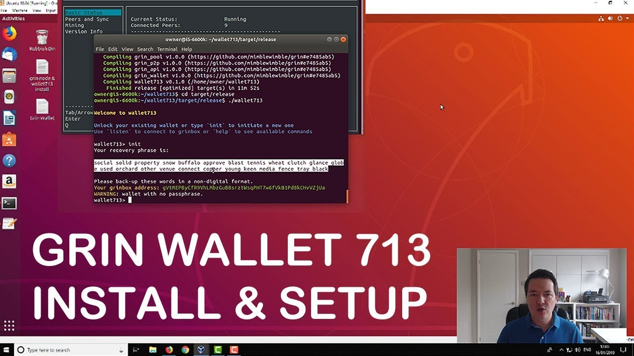 Grin Wallet 713 Install & Setup Guide - Create Addresses Send & Receive  Payment