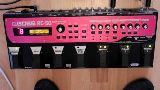Boss RC-50 Loop Station How To Demo with Tommy Pope on Guitar