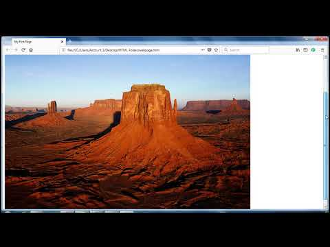 HTML (In Hindi) Tutorial 6: Adding Image And Resizing The Image