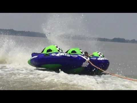 Tube and wakeboard fun at the dam