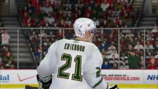NHL 09 PC Dallas Stars dynasty (game 1)