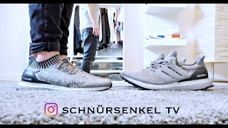c92c236ddadf32 adidas ultra boost 3.0 silver pack caged vs uncaged unboxing review on feet  video sneakerporn german