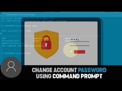 How to Change Account Password using Command Prompt on Windows 10