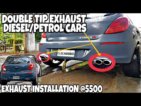 Car Exhaust @5500✓ Borla Exhaust》Custom Free Flow Exhaust Installation》Modified i20》Modified Cars
