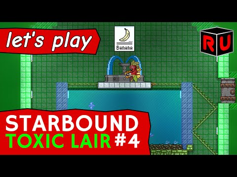 Swimming with the fishes: Building an evil aquarium! | Let's play Starbound Toxic Lair ep 4