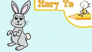 Как нарисовать зайца. Рисование для новичков.(Привет! Сегодня вы узнаете, как нарисовать зайца - серого лесного зверька. Я рисую пошагово, у вас получиться..., 2016-09-08T16:05:32.000Z)