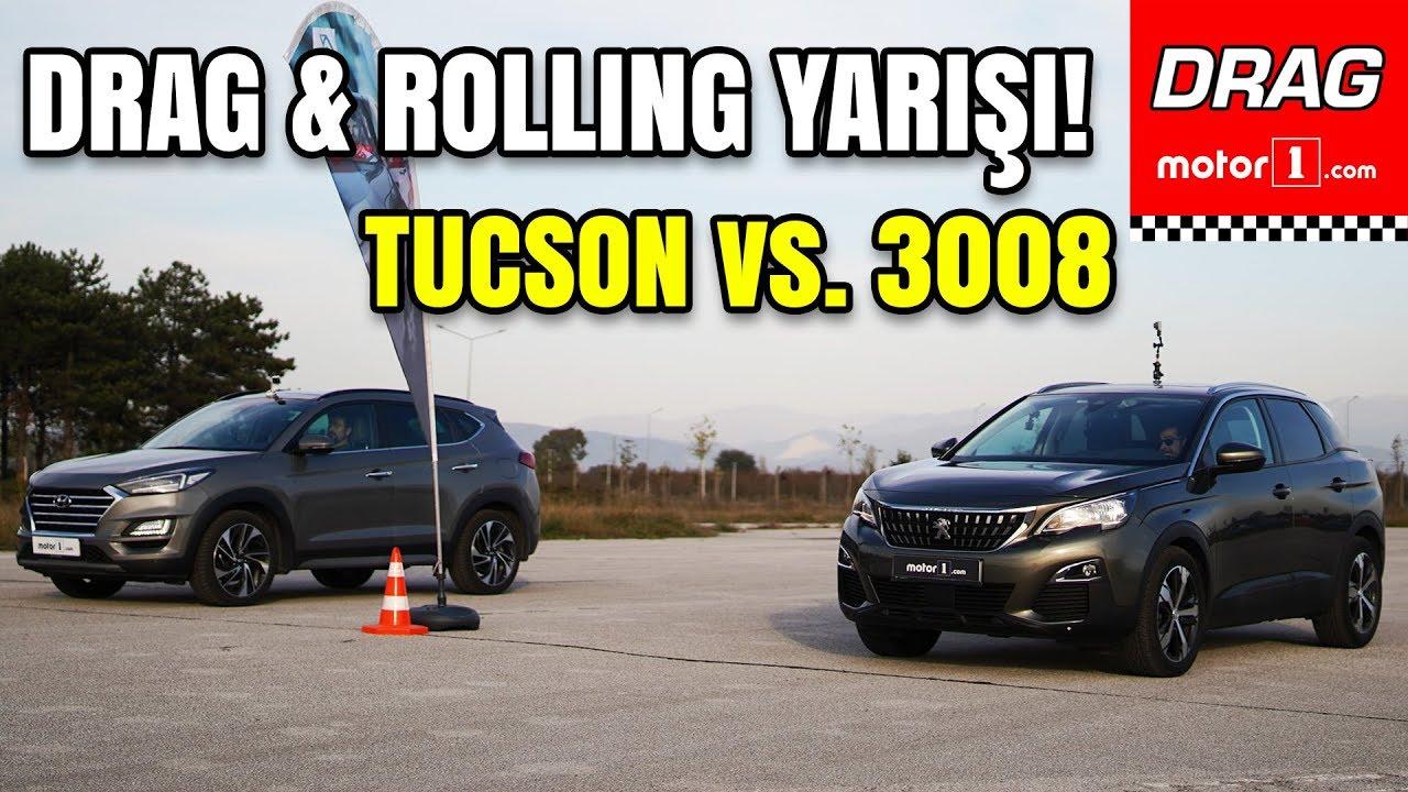 DRAG & ROLLING YARIŞI | Peugeot 3008 vs. Hyundai Tucson | Dizel Savaşı: Fransa vs. Kore