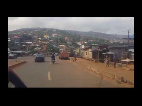 Driving  in   Freetown
