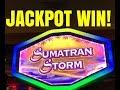 JACKPOT WIN! SUMATRAN STORM SLOT MACHINE BONUS!