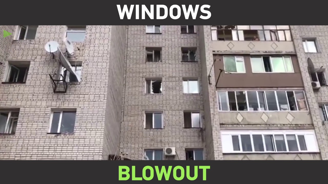 Controlled blast ends up SHATTERING windows in high-rise