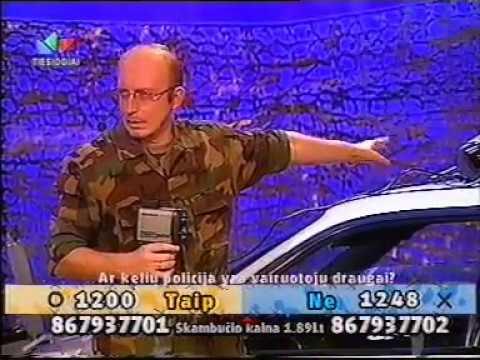 M.Juškauskas gerina policiją. LNK Frontas 2003.