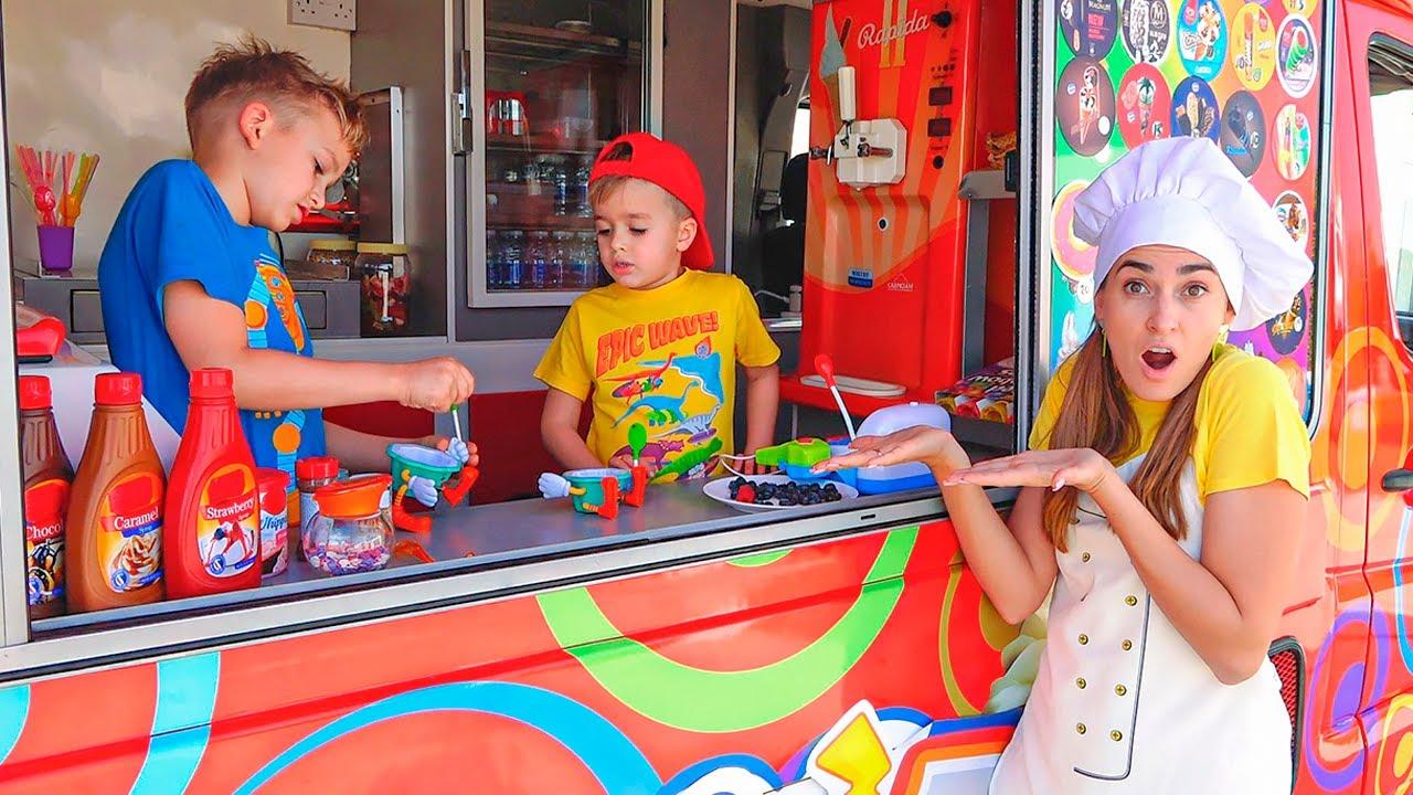 Download Vlad and Niki explore new mom's Ice cream Truck