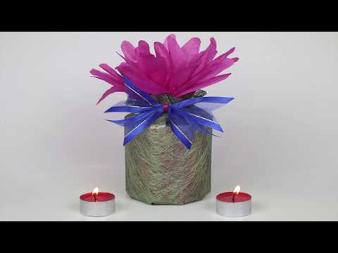 How to Wrap a Large Circular Candle for Festive Occasions
