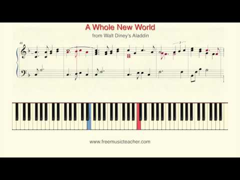 How To Play Piano: A Whole New World from Walt Dineys Aladdin Piano Tutorial  Ramin Yousefi