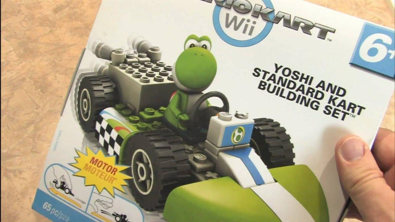 Classic Game Room Mario Kart Knex Yoshi And Standard Kart Set