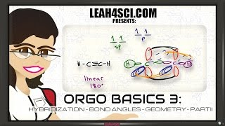 sp2 and sp Hybridization Bond Angle and Geometry In Organic Chemistry Basics 3